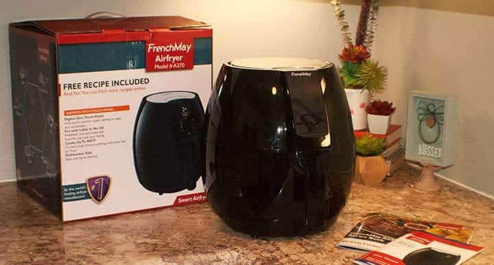 review of frenchmay air fryer oil less A370