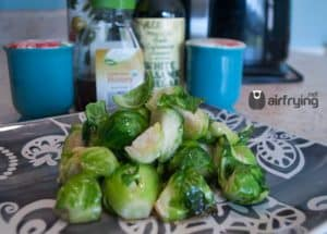 air fryer brussel sprouts with honey marinade