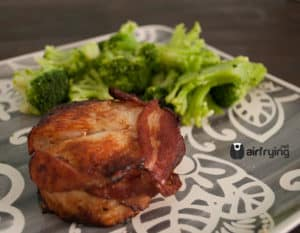 frozen turkey breast wrapped bacon cooked in air fryer