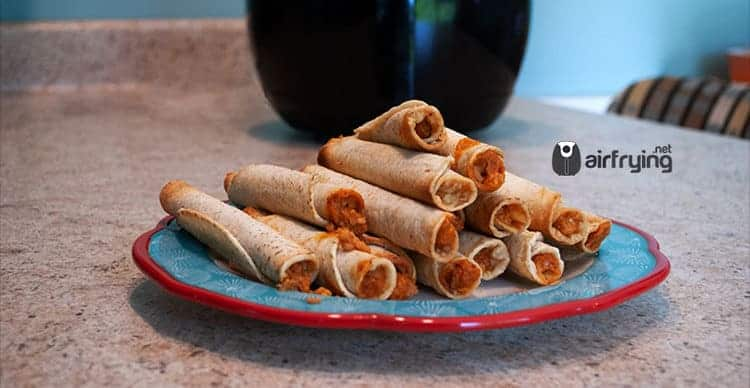 Air Fryer Taquitos Featured