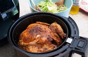 whole chicken cooked in air fryer basket