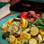zucchini squash and yellow onion dish air fried