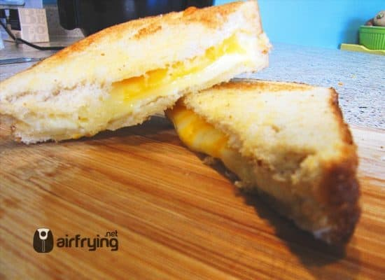 3 Cheese Air Fried Grilled Cheese Sandwich