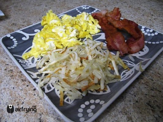 frozen hash browns air fried
