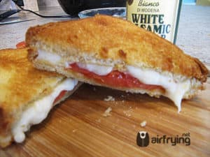 Caprese Grilled Cheese Sandwich Air Fried