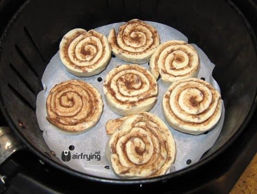 Preparing Cinnamon Rolls for Air Fryer