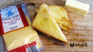 Gouda Apple Grilled Cheese Air Fried