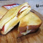 Air Fryer Gouda and Apple Grilled Cheese