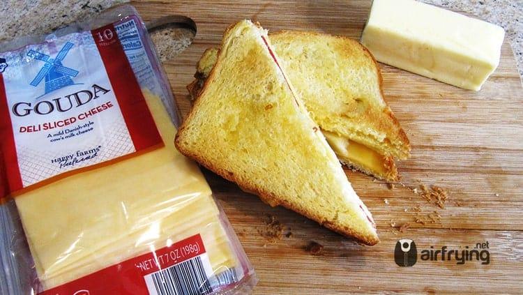 Gouda Apple Grilled Cheese Air Fried