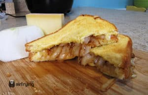 Onions Gruyere Grilled Cheese
