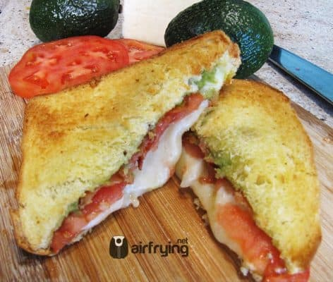 Tomato Avocado Bacon Grilled Cheese