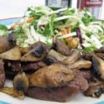 Air Fryer Steak & Mushroom
