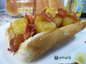 AIr Fried Pineapple Hot Dog | Hawaiian Hot Dog