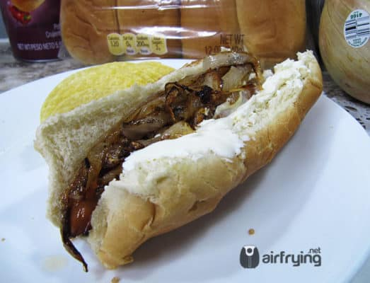 Air Fried Seattle Hot Dog