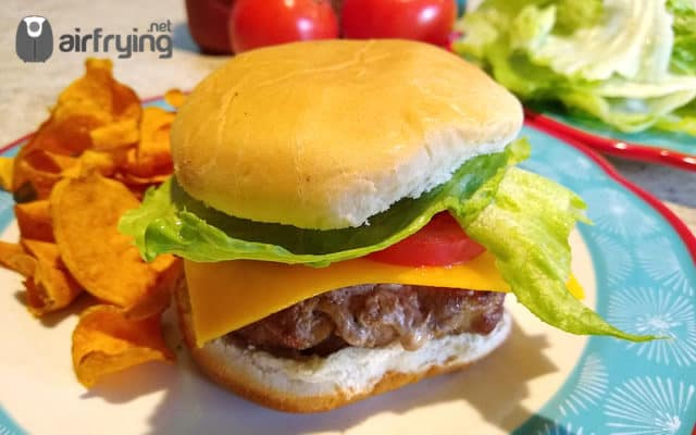Air Fried Turkey Burgers