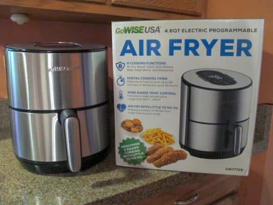 GoWISE USA 4.6 quart air fryer