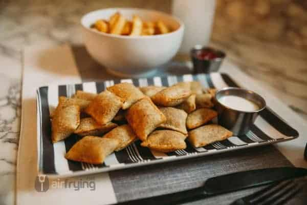 Air fried frozen pizza rolls