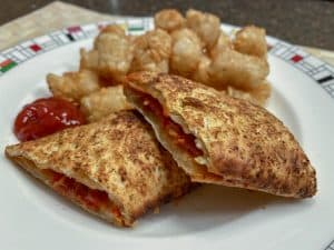 Air fried hot pocket and tater tots