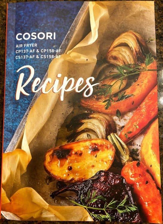 Cosori Premium 5.8 qt air fryer cookbook