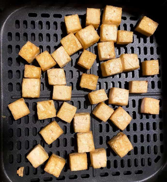 air fried tofu in Cosori air fryer
