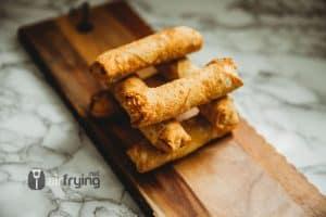 Frozen egg rolls in the air fryer