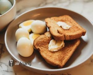 Yummy eggs and toast