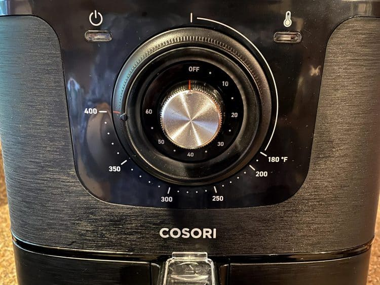 Cosori original 5.8 quart air fryer dials