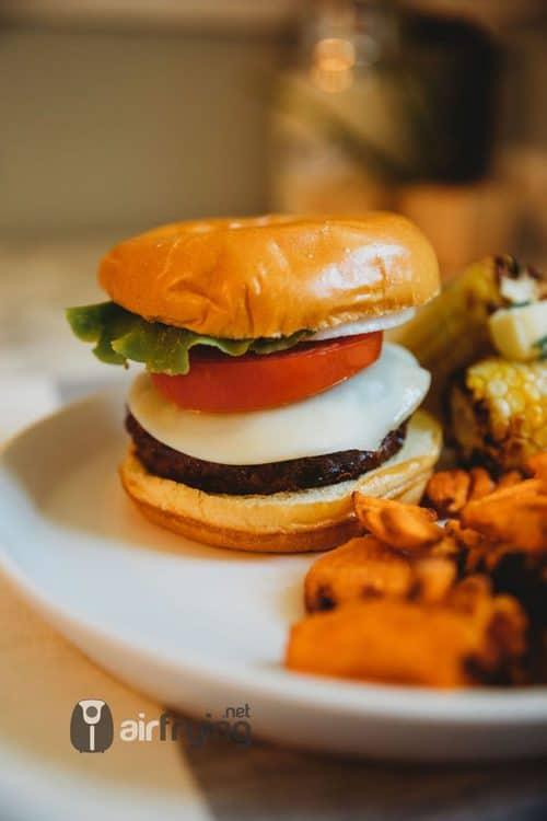 air fried cheeseburger