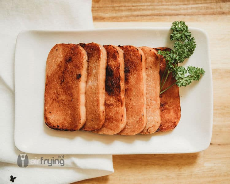 plate of air fried spam